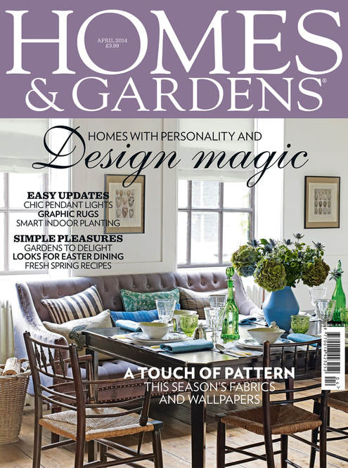 Vintage egg prints in Homes and Gardens magazine